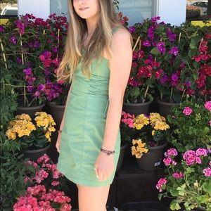 Green short sundress